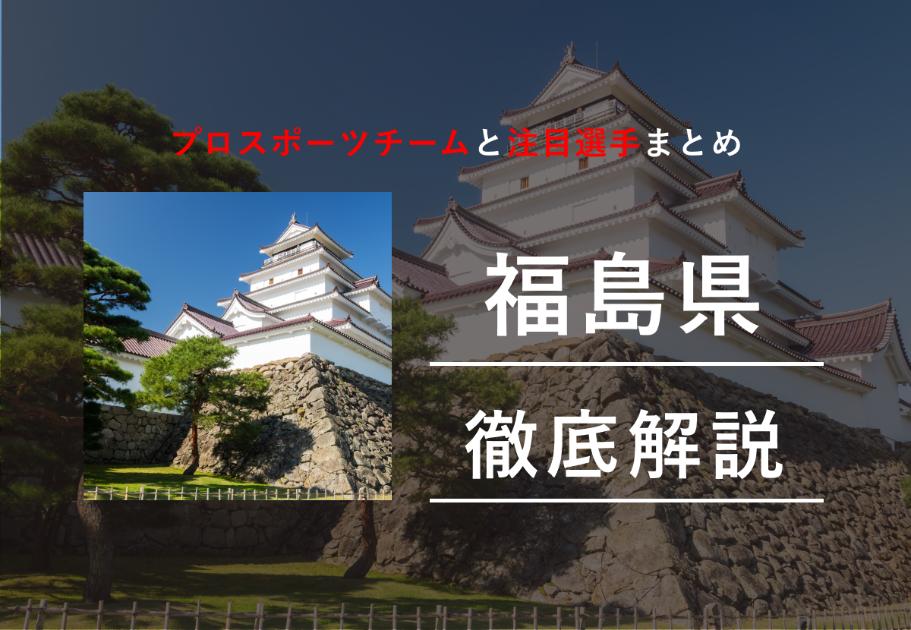 【2020年最新】福島県のプロスポーツチームまとめ