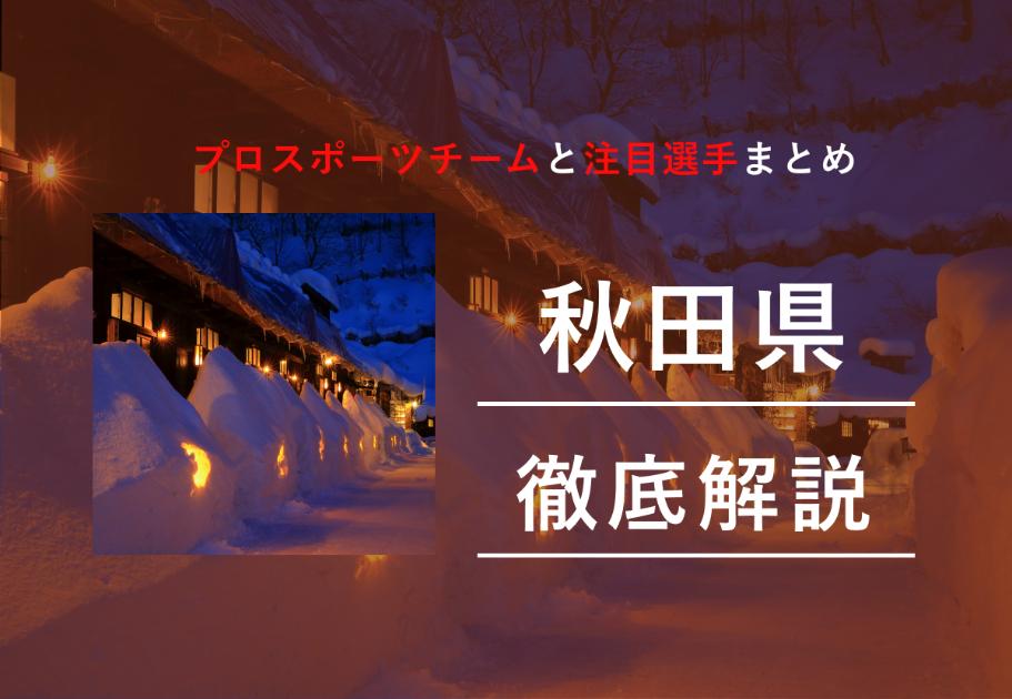 【2020最新】秋田県のプロスポーツチームと注目選手を一挙紹介!