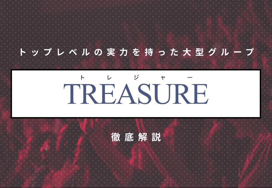 TREASURE(トレジャー) トップレベルの実力を持った大型グループを徹底解説!